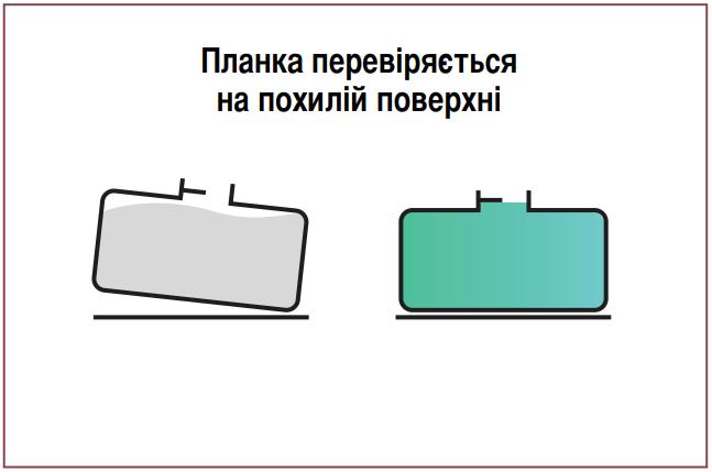 Перша помилка розрахунку маси пального. Перевірка «планки» відбувається не на рівній поверхні.